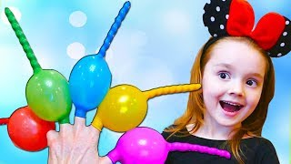 SoNiKa Learn Colors with colorful Balloons for kids and Nursery Rhymes Finger Family Colors Songs