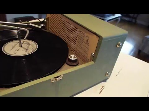 Voice of Music., V-M record player playing a LP record