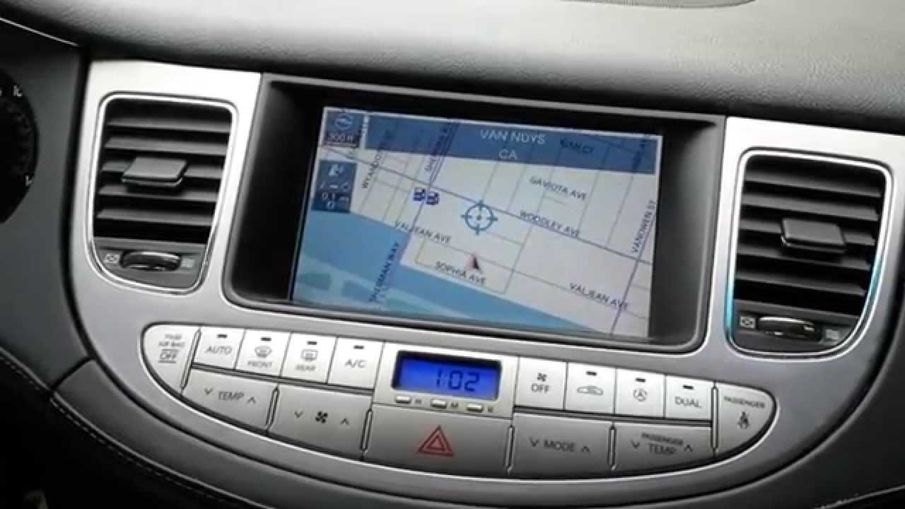 How To Remove Navigation Screen Amp Cluster Of Hyundai Genesis 2011 For Repair Youtube