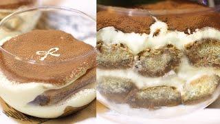 Tiramisu Cup: No-bake Cheesecake Recipe 티라미수 만들기 - 한글자막