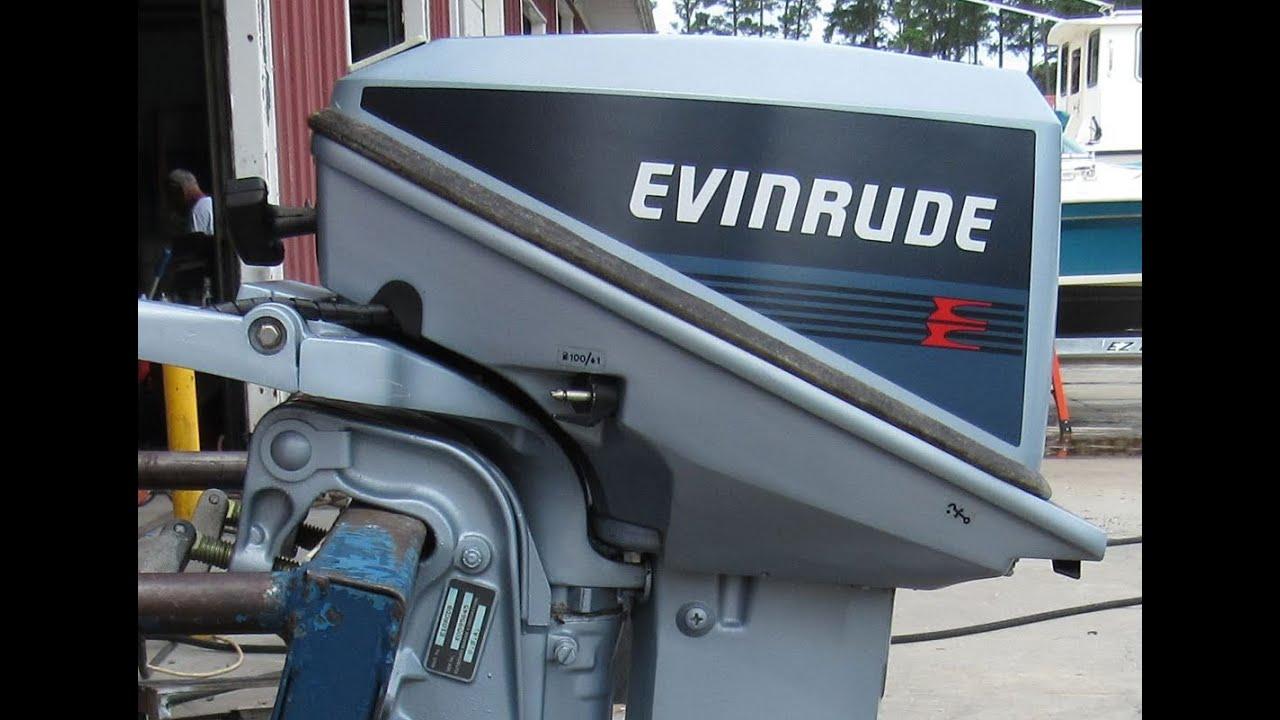 e0595645 used 1986 evinrude e10rcdb 9 9hp 2 stroke tiller outboard boat motor 15 shaft [ 1280 x 720 Pixel ]