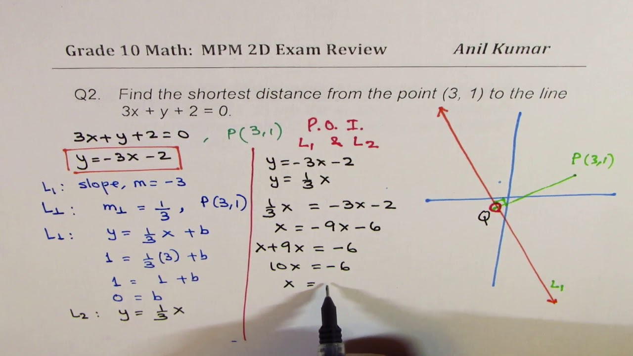 MPM2D Analytical Geometry Exam Review Grade 10 - YouTube [ 720 x 1280 Pixel ]