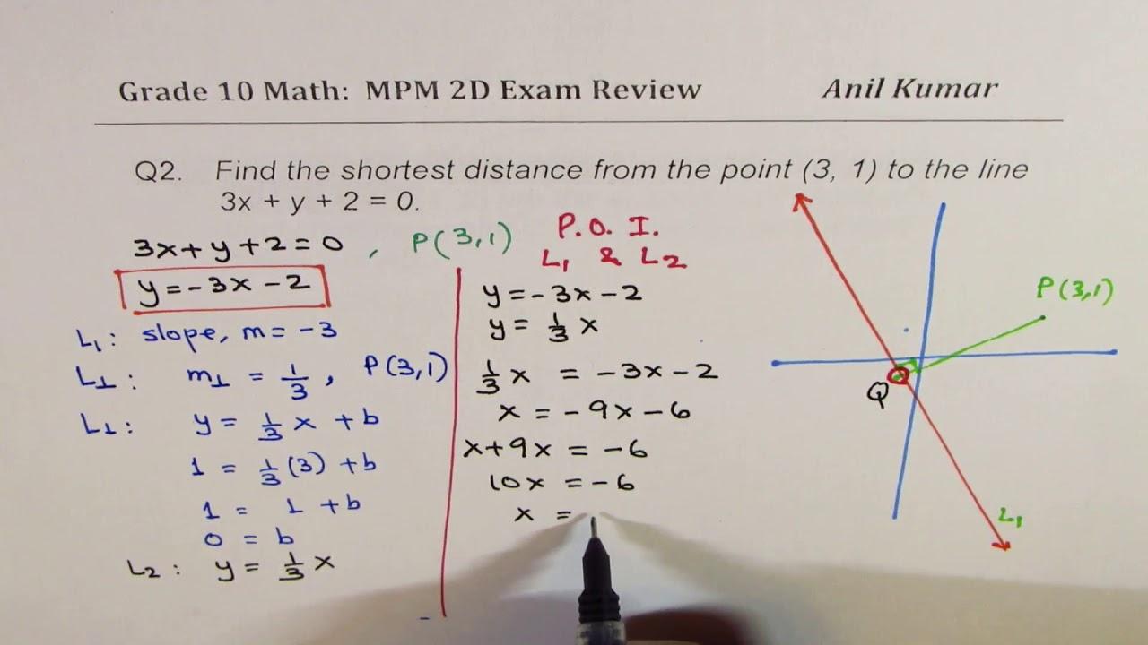 medium resolution of MPM2D Analytical Geometry Exam Review Grade 10 - YouTube