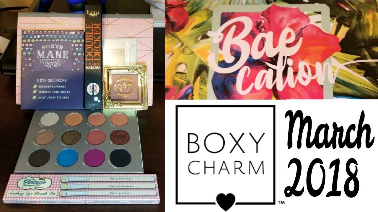 boxy charm march 2018 youtube