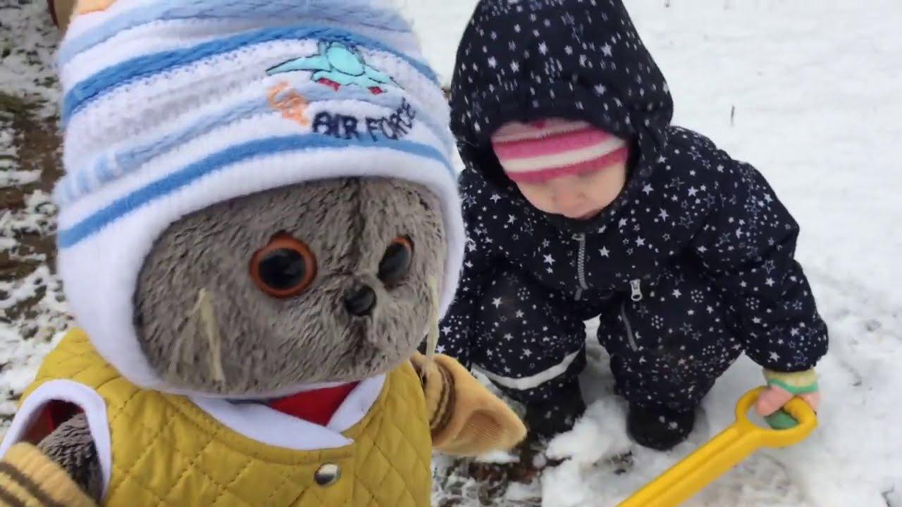 Первый снег. Прогулка БАСИКОВ с Ритулей / Семейка Басиков и Мисс Фаина