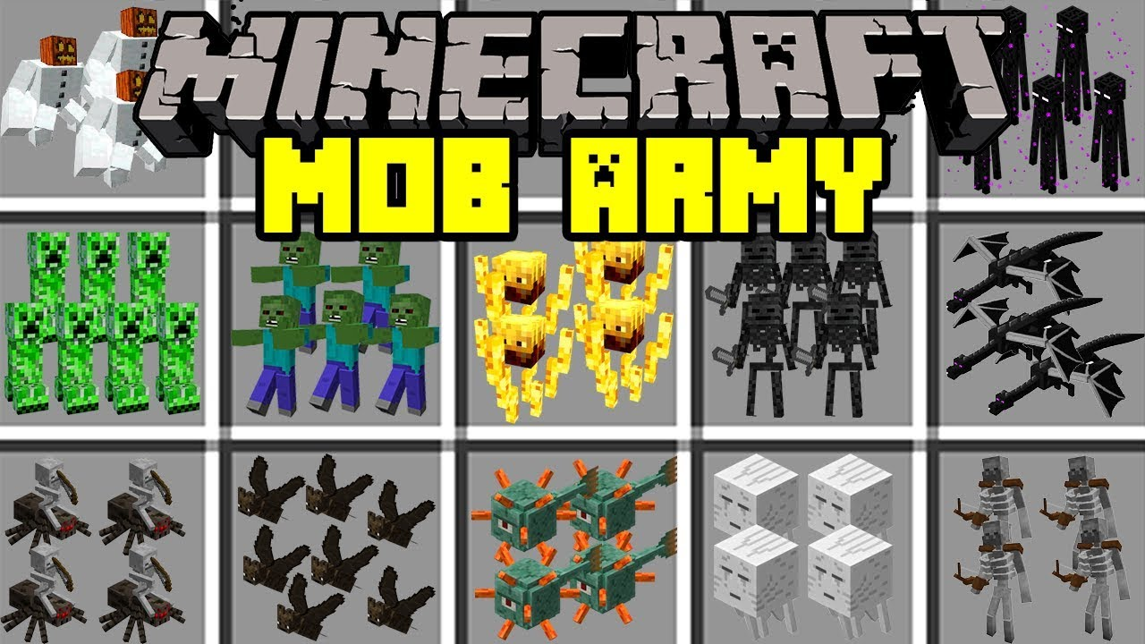 Minecraft MOB ARMY MOD! | BUILD ARMY OF MOBS TO FIGHT FOR YOU! | Modded Mini-Game