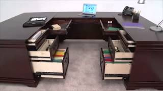 Traditional U-desk | Nbf Pont Lafayette | National Business Furniture