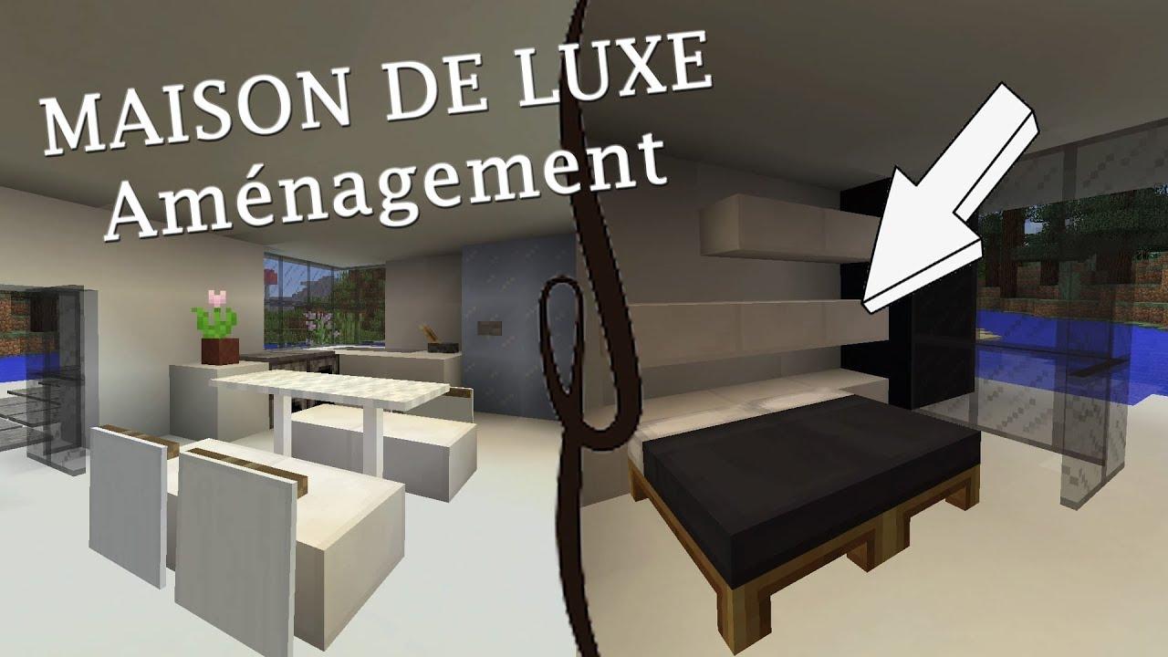 AMÉNAGEMENT de la MAISON de LUXE - MINECRAFT PS4 - YouTube