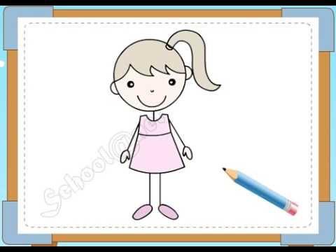 BÉ HỌA SĨ - Thực hành tập vẽ 102: Vẽ bé gái