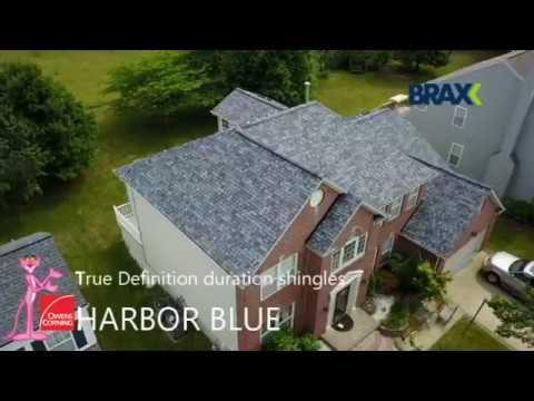 Owens Corning True Definition Duration Harbor Blue Youtube