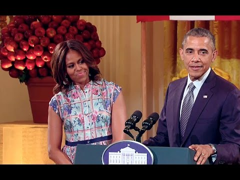 The President and First Lady at the 2014 Kids