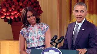 Repeat youtube video The President and First Lady at the 2014 Kids' State Dinner