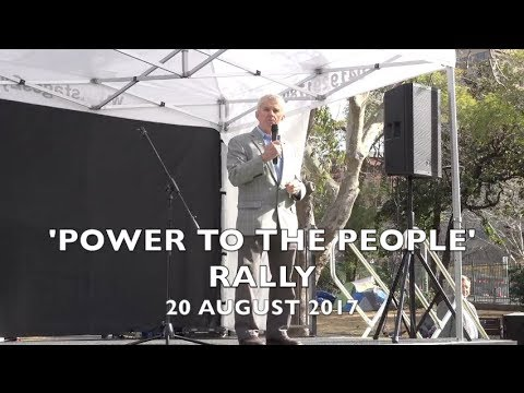 POWER TO THE PEOPLE RALLY - 20 AUGUST 2017