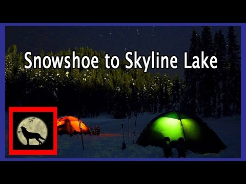 Snowshoe to Skyline Lake with the Hilleberg Staika and Allak