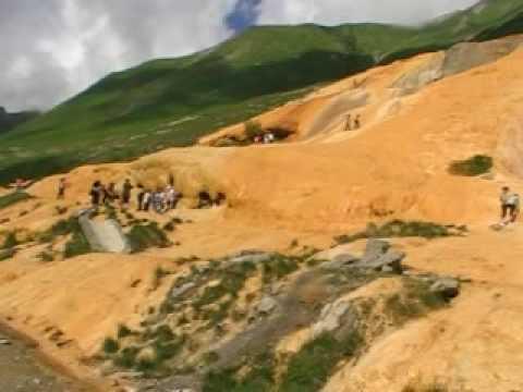 Golden mountain - acidic water