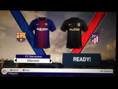 Fifa 18 PS Vita Gameplay Barcelona Vs Atletico Madrid