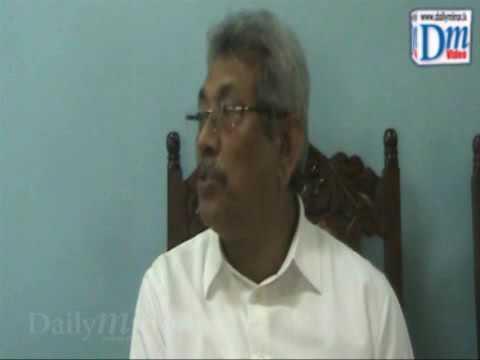 Former defense secretary Gotabhaya Rajapaksa
