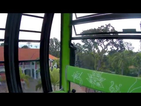 Singapore, taking the Sentosa Express and Cable car to Sento