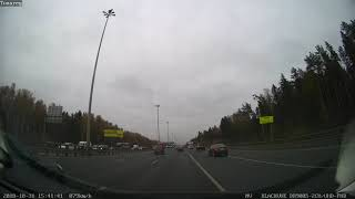 Пример съемки в пасмурный день фронтальная камера BlackVue DR900S-2CH