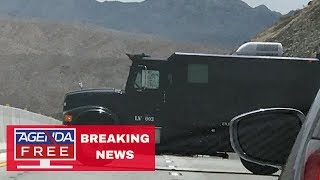 Man in Armored Car Blocking Hoover Dam Bridge - LIVE BREAKING NEWS COVERAGE