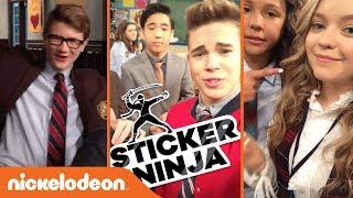 Sticker Ninja w/ Jade Pettyjohn, Breanna Yde & More! | School of Rock | Nick