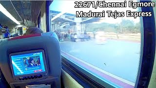 High Speed TEJAS EXPRESS Journey from Chennai to Trichy! 22671 Chennai Madurai Tejas Express
