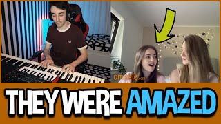 Playing Piano for GIRLS on Omegle 4 видео