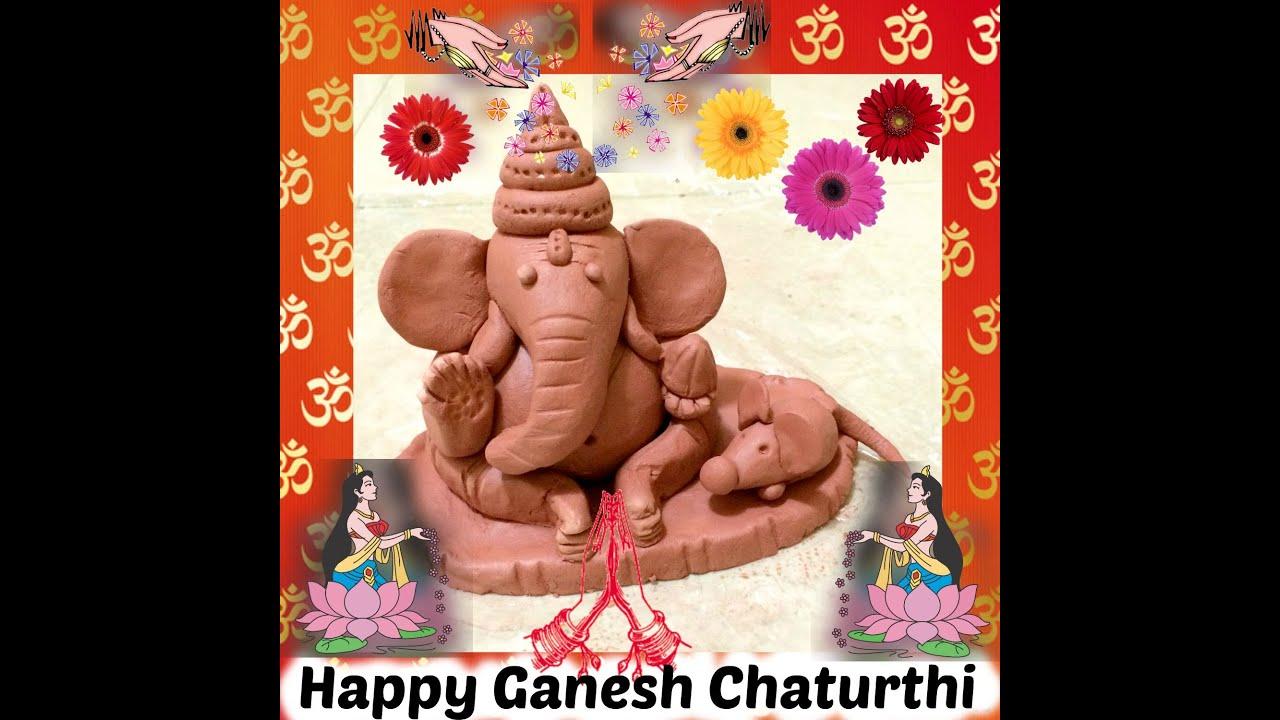 Ganesh Trompe A Droite ganesha en argile   hindouisme