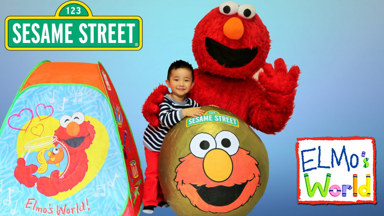 Elmos World Sesame Street Giant Surprise Egg Toys Opening Fun CKN