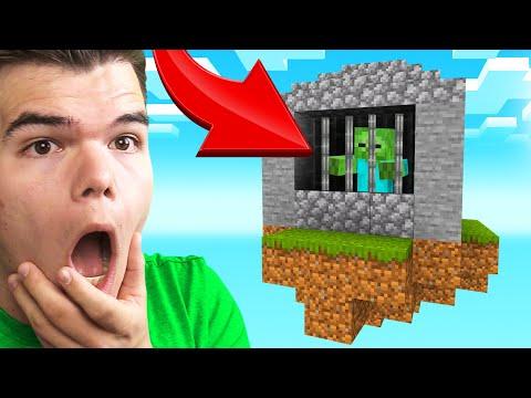 Building A ZOMBIE PRISON In SKY BLOCK! (Minecraft)