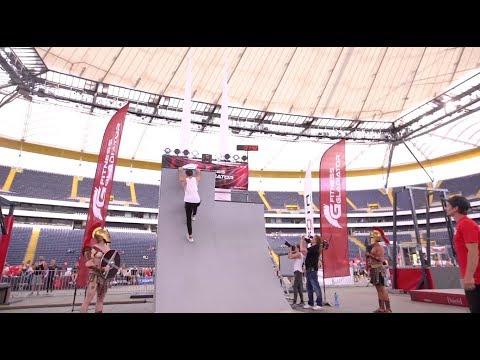 Ninja Warrior Germany 2017 Parkour Final Run in Frankfurt @ WORLD FITNESS DAY - Commerzbank Arena