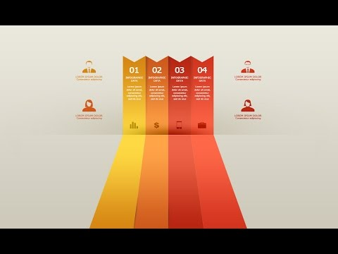 Infographic Tutorial infographic tutorial illustrator logo tutorial : Photoshop Tutorial Graphic Design Infographic Ribbon Minimal - YouTube