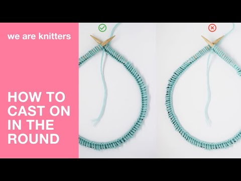 How to cast on stitches with a circular needle - WE ARE KNITTERS