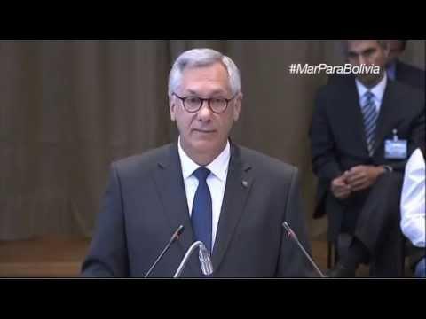 Discurso por Bolivia de Eduardo Rodríguez Veltzé ante CIJ en La Haya