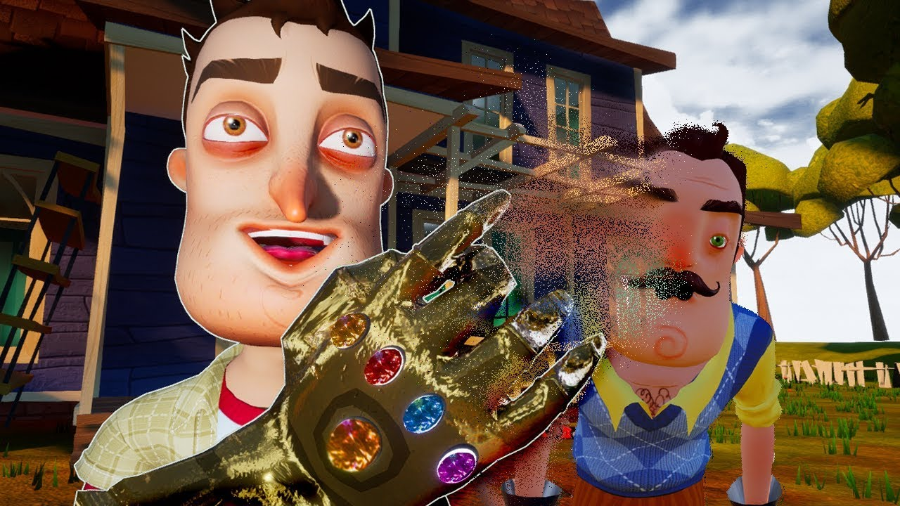 THE PLAYER FIND THE INFINITY GAUNTLET - Hello Neighbor Mod