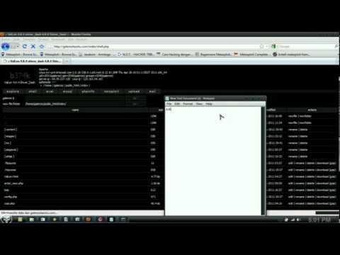 simple upload shell via FTP