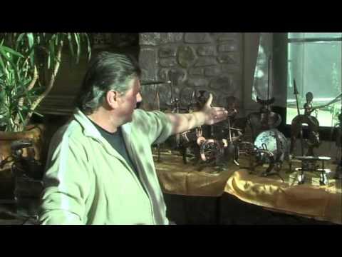 Alberto sculpteur de vieux outils youtube - Queue de cochon outil ...