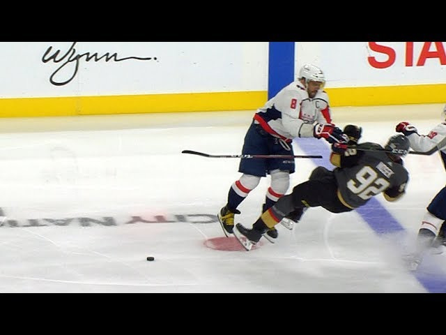 Ovechkin lays a huge hit on Thomas Nosek