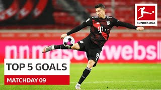 Top 5 Goals - Lewandowski, Angeliño & Co. | Matchday 9 - 2020/21