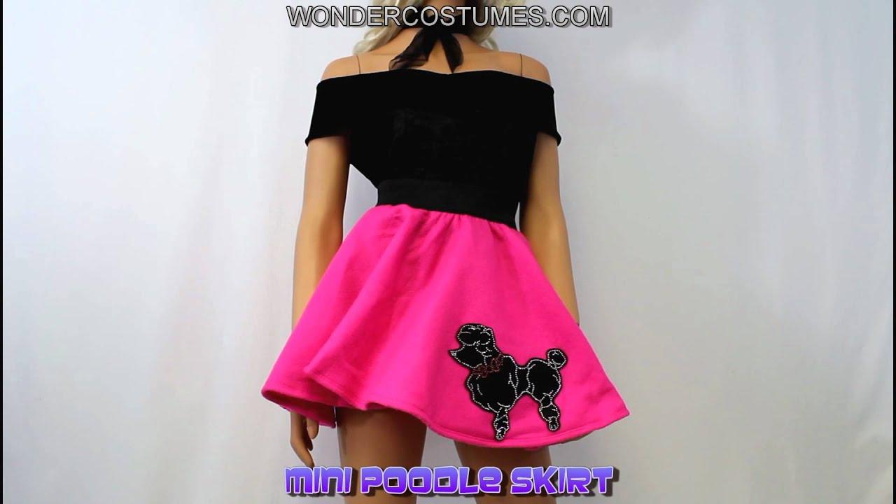 Mini Poodle Skirt Adult Costume