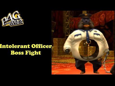 Persona 4 Golden | Intolerant Officer Boss Fight(VERY HARD MODE) |