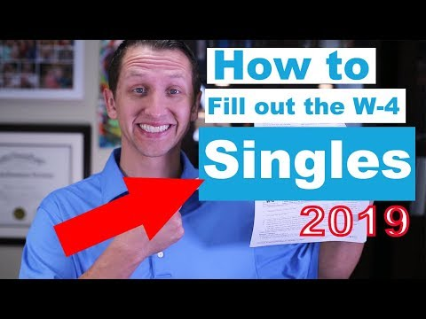 "<span class=""title"">How to fill out the W-4 2019 for Singles</span>"