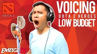 voicing the dota 2 heroes low budget version part 1 somplak gan