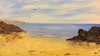 Easy Seascape : Acrylic painting for beginners,#clive5art