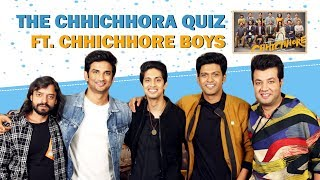 The Chichora Quiz Ft. Sushant, Varun, Naveen, Tushar & Saharsh   Chhichhore