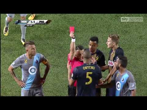 Video referee overturns red and pen to Oguchi Onyewu in Minnesota's against Philadelphia Union