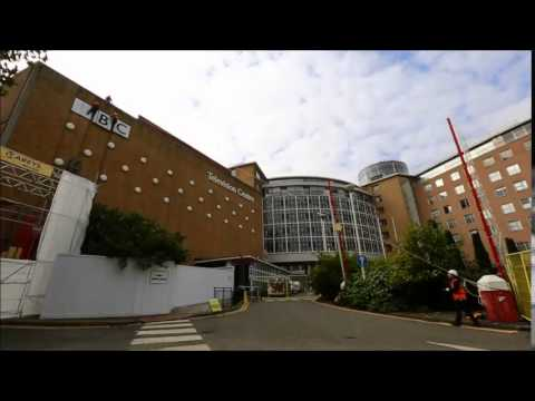 BBC lettering taken down at Television Centre