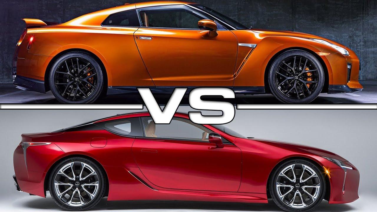 2017 Nissan GT-R vs 2017 Lexus LC500 - YouTube
