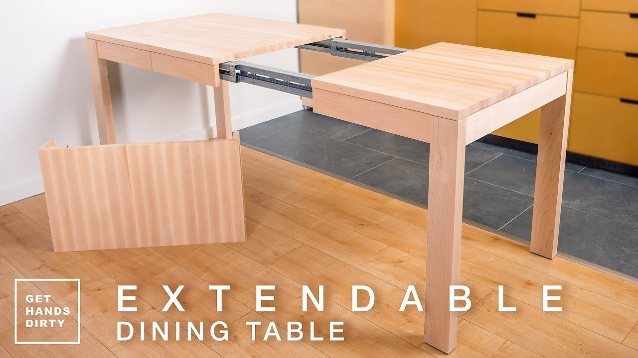 How to Make an Extendable Dining Table with Solid Maple // Tiny Apartment  Build Ep.8