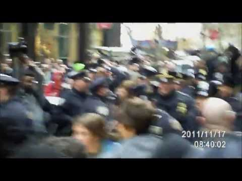 Occupy Wall Street - Female Reporter Violently Shoved Into Taxi - Nov. 17